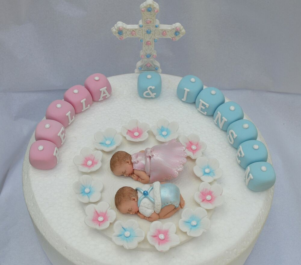 Baby Boy Christening Cake Decorations