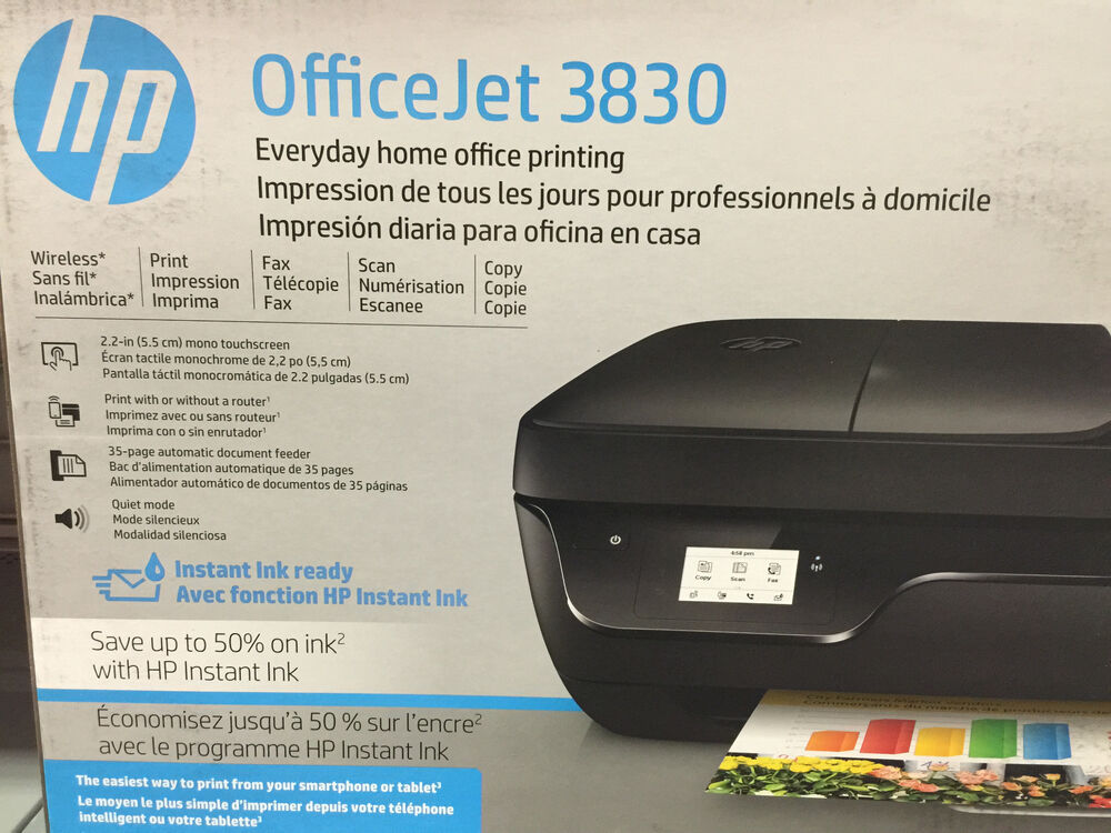 New Hp Officejet 3830 3833 Printer Copy Scan Wireless Fax