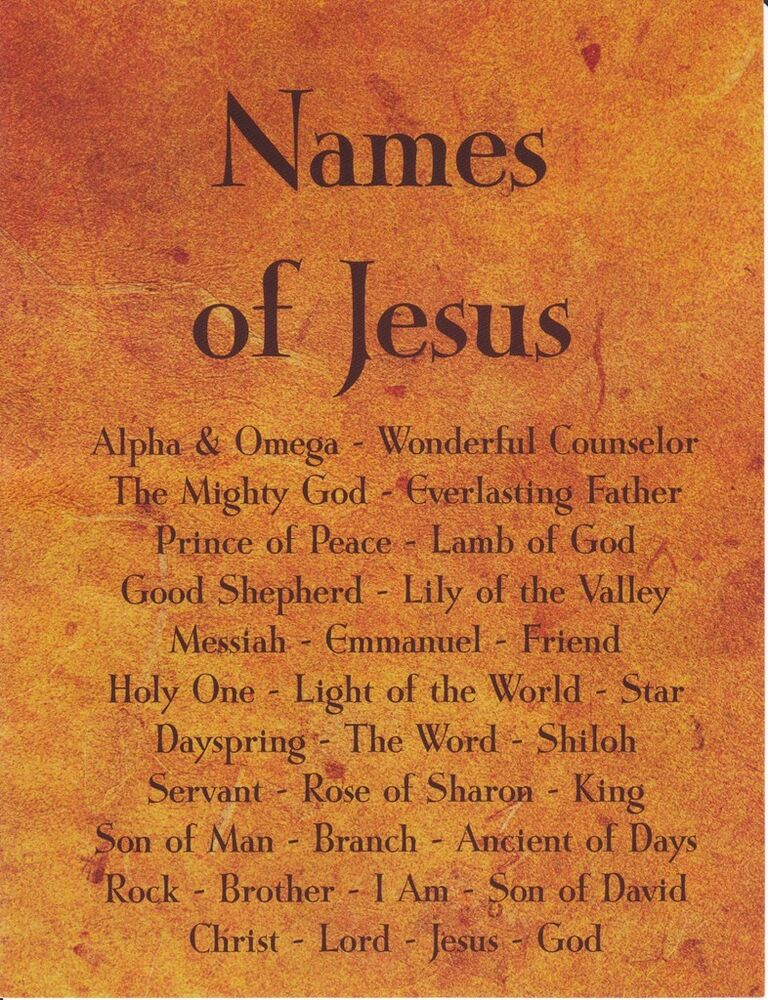 SMALL - Names of Jesus - Art Print Poster - From Christian ...