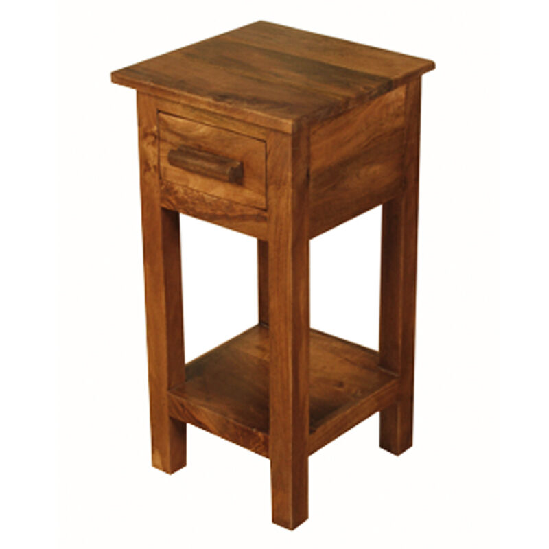 Table Small Side Dark Wood