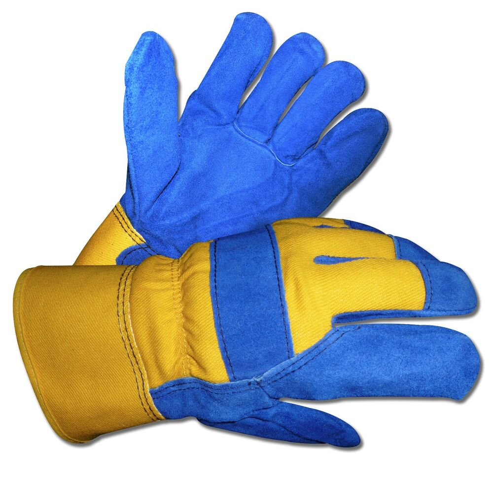 Fleece Lined Leather Work Gloves