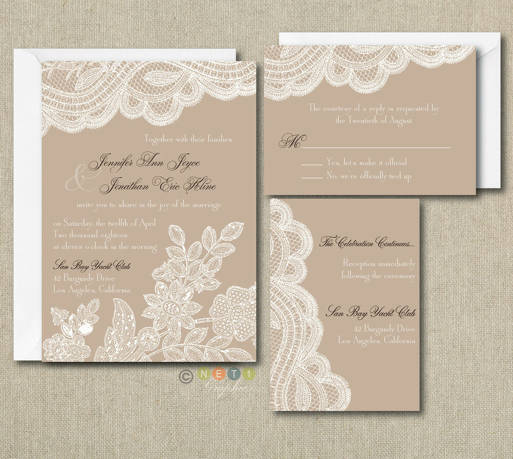 Custom Invitations Ebay