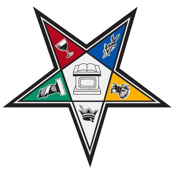 """Order of the Eastern Star Large 4"""" Reflective Decal ..."""