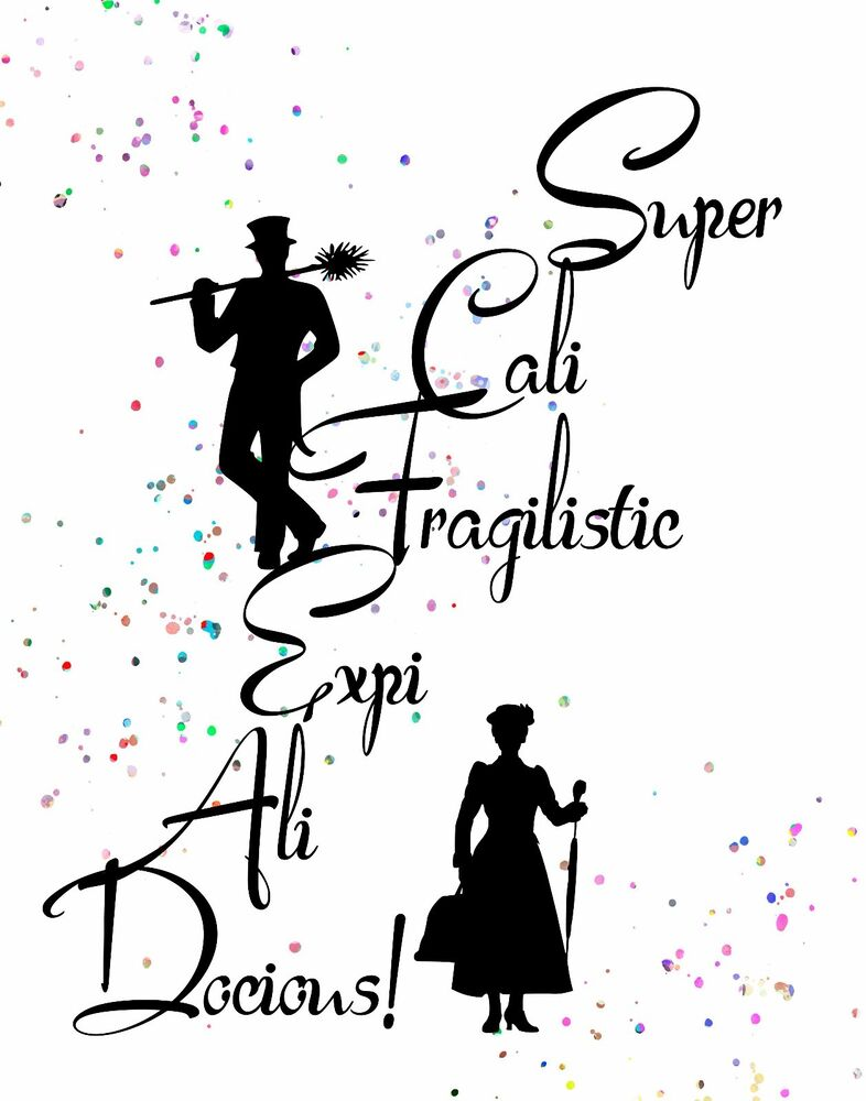 Watercolor Pop Art Print: MARY POPPINS Quote ...