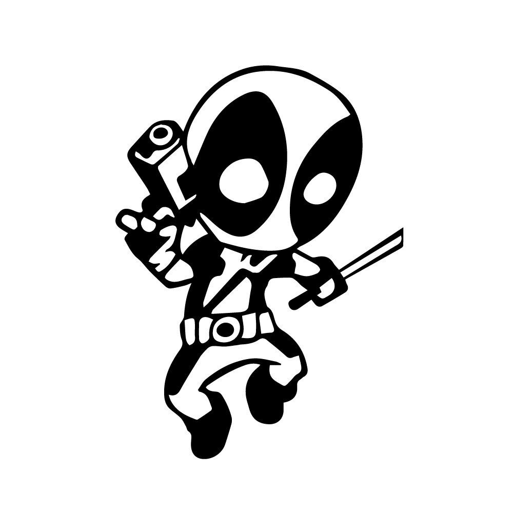 Black And Decal White Deadpool