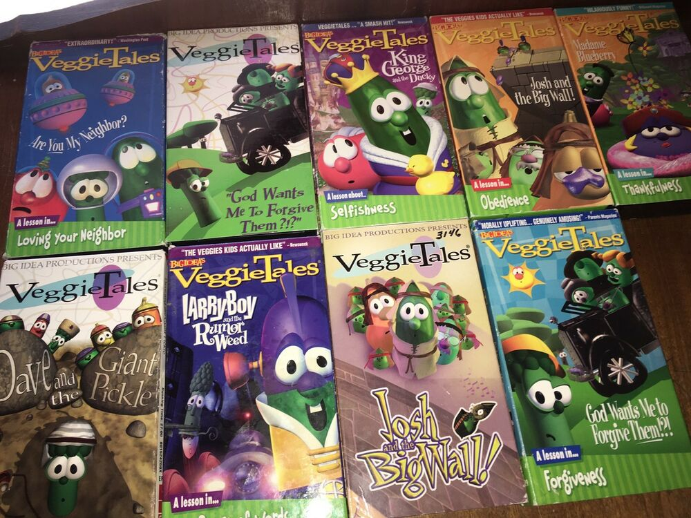 Dave And Giant Pickle Veggietales Vhs Logo