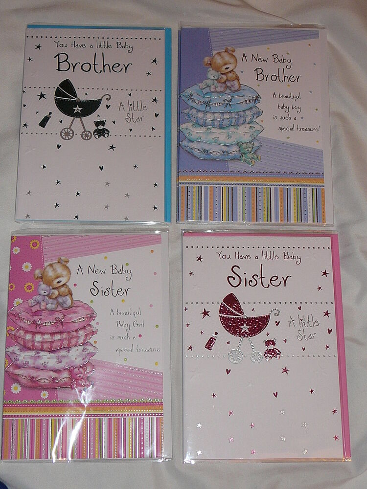 Greeting Card You Have A Baby Brother Sister New Baby