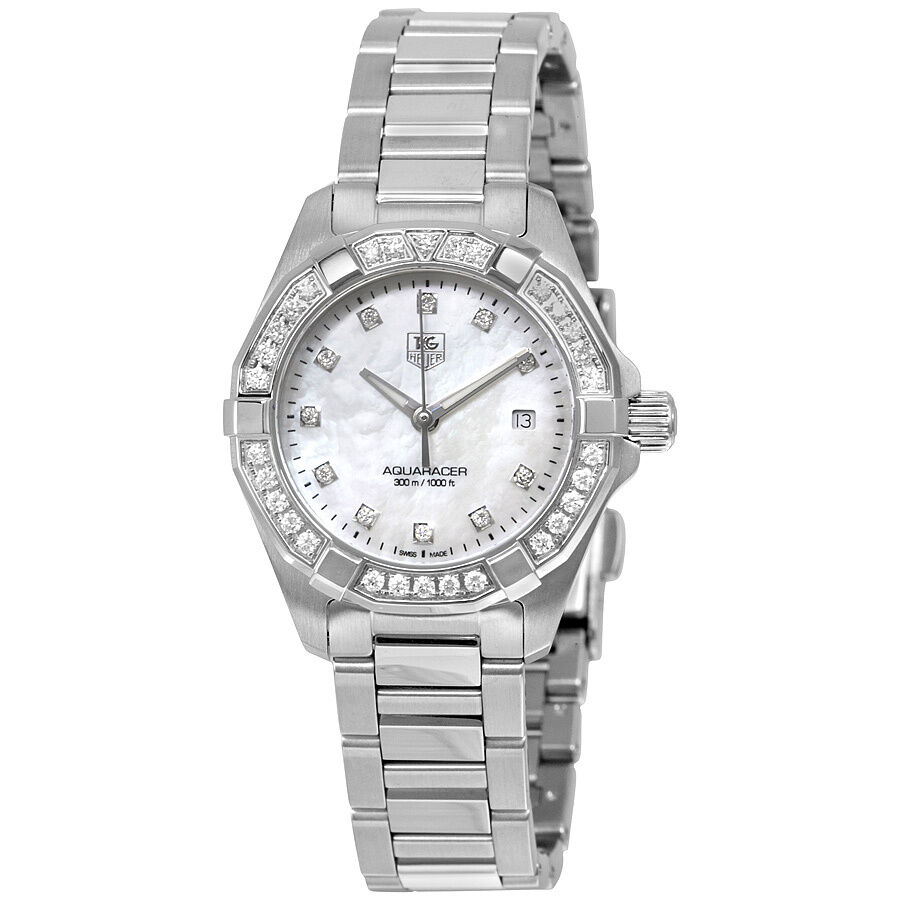 Tag Heuer Aquaracer Mother of Pearl Diamond Dial Ladies ...