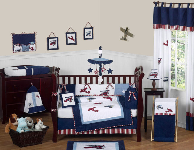 Unique Discount Red Blue White Vintage Airplane Planes