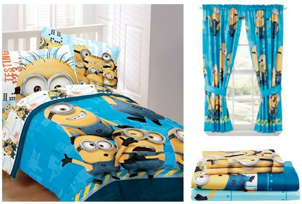 Kids Boys Despicable Me Minions Bedding Bed In A Bag