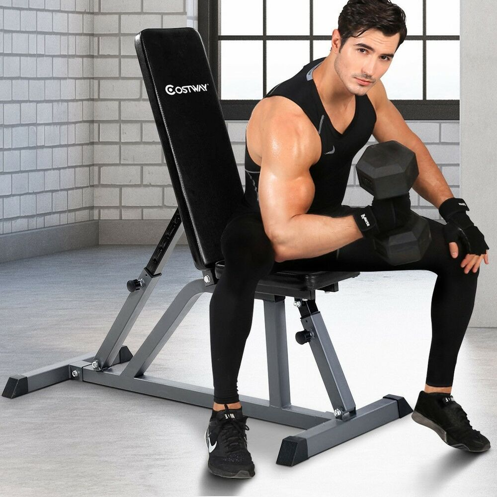 Adjustable Folding Sit Up Ab Incline Abs Bench Gym Home