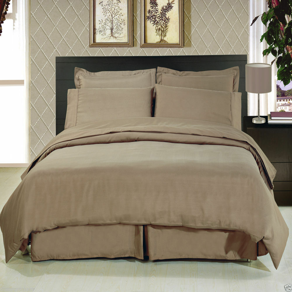 8pc Luxury Super Soft Taupe Bedding w/Microfiber Sheets ...