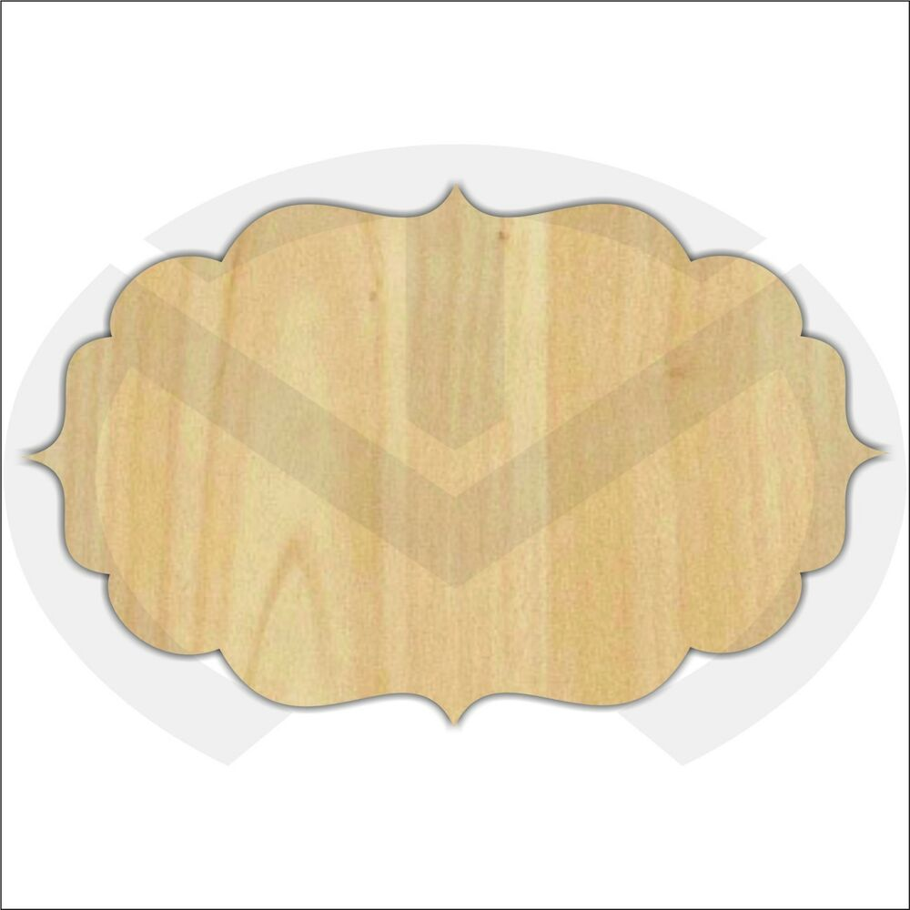 Unfinished Wood Laser Cut Decorative Plaque Tm7 Ready