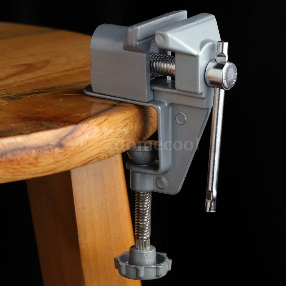 30mm Aluminum Mini Bench Vise Clip On Jewelry Clamp Table