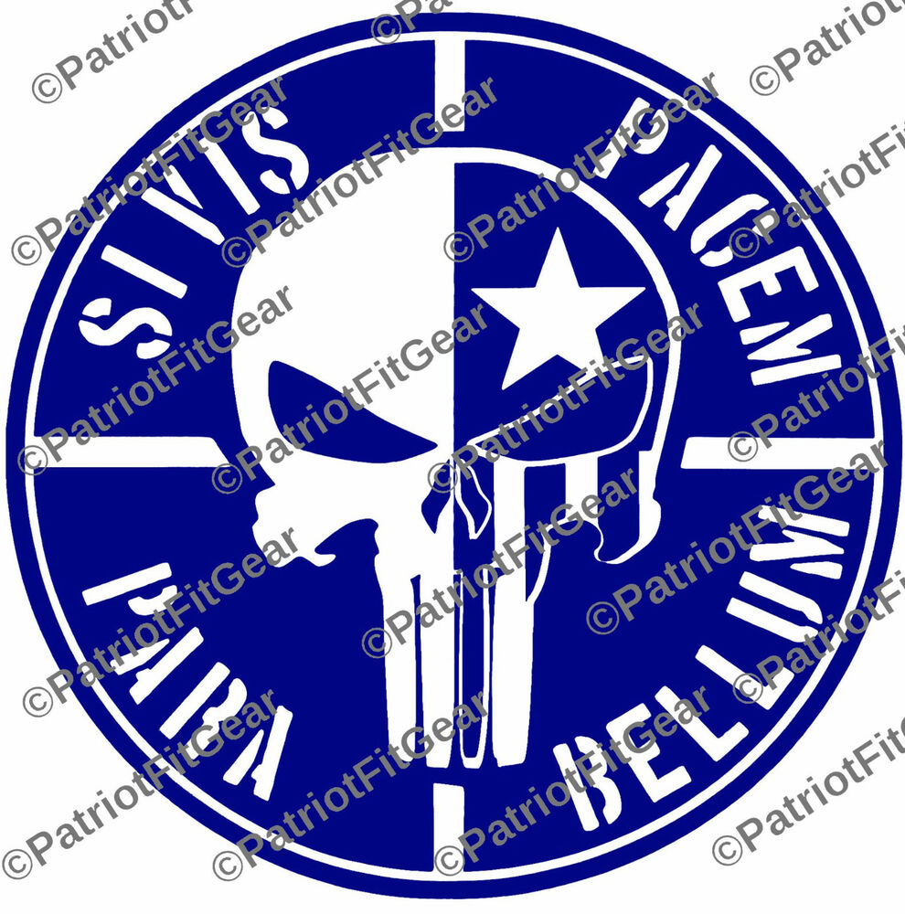 Skull Punisher Sticker Decal
