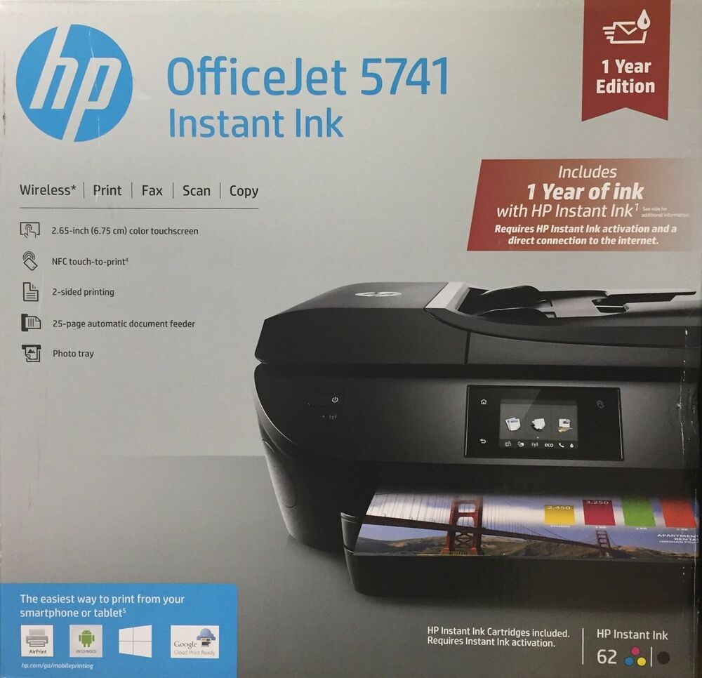 Brand New Hp Officejet 5741 Wireless All In One Printer