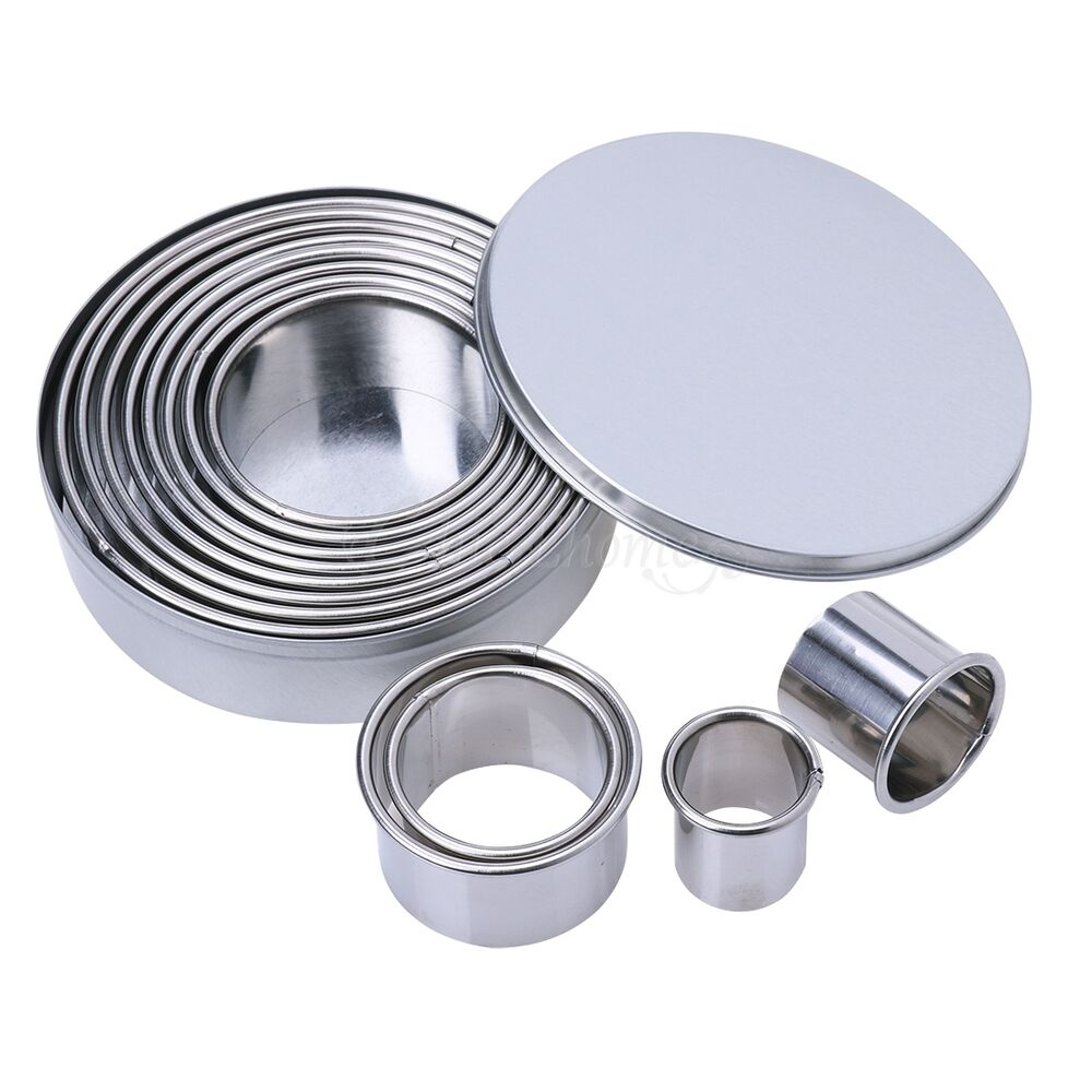 Stainless Steel Cookie Molds Round Cookie Biscuit Pastry ...