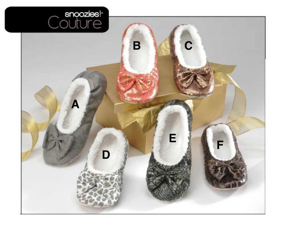 New Snoozies Couture Slippers Women Fuzzy House Shoes No ...