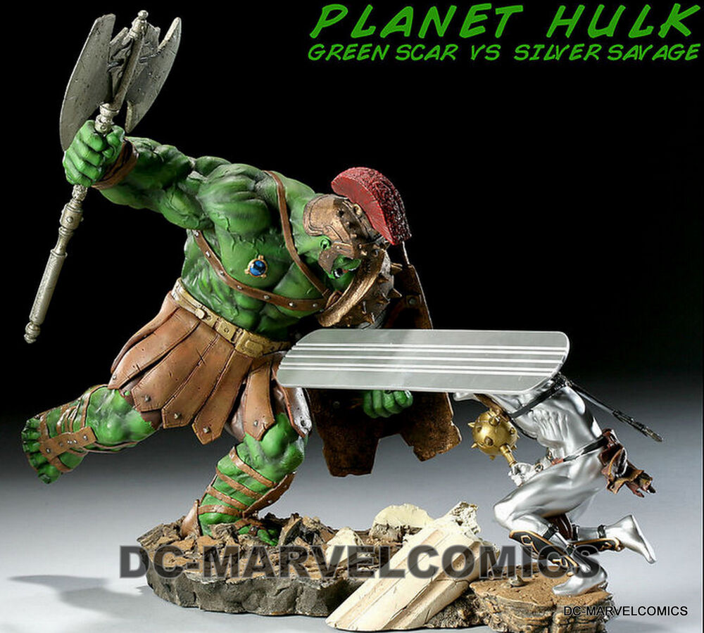 SIDESHOW EXCLUSIVE PLANET HULK~GREEN SCAR VS SILVER SURFER ...