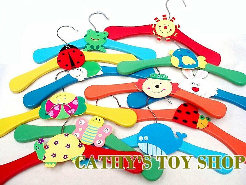 Multi Coloured Wooden Cute Baby Kids Children Coat Clothes ...