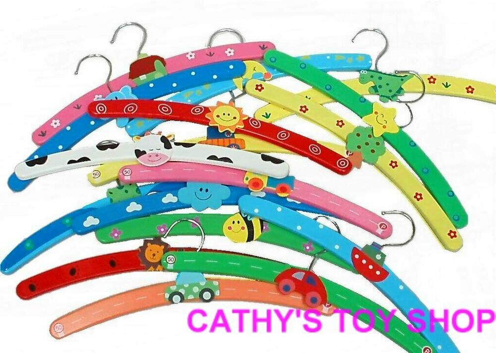 10 PCS Childrens Baby Kids Coat Clothes Hangers NEW | eBay
