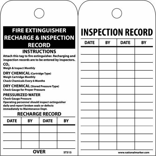 "NMC ST515 Accident Prevention Tag, ""Fire Extinguisher ..."