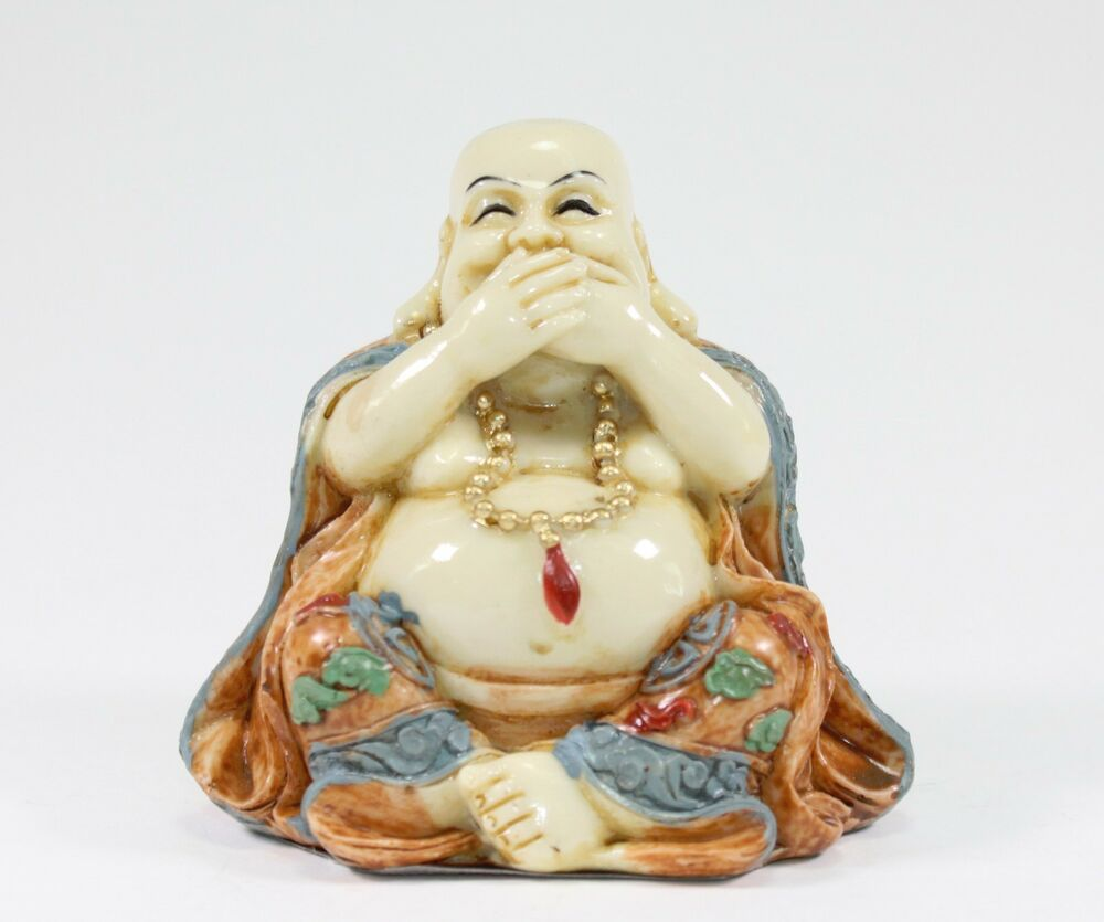 Feng Shui Speak No Evil Happy Face Laughing Buddha ...