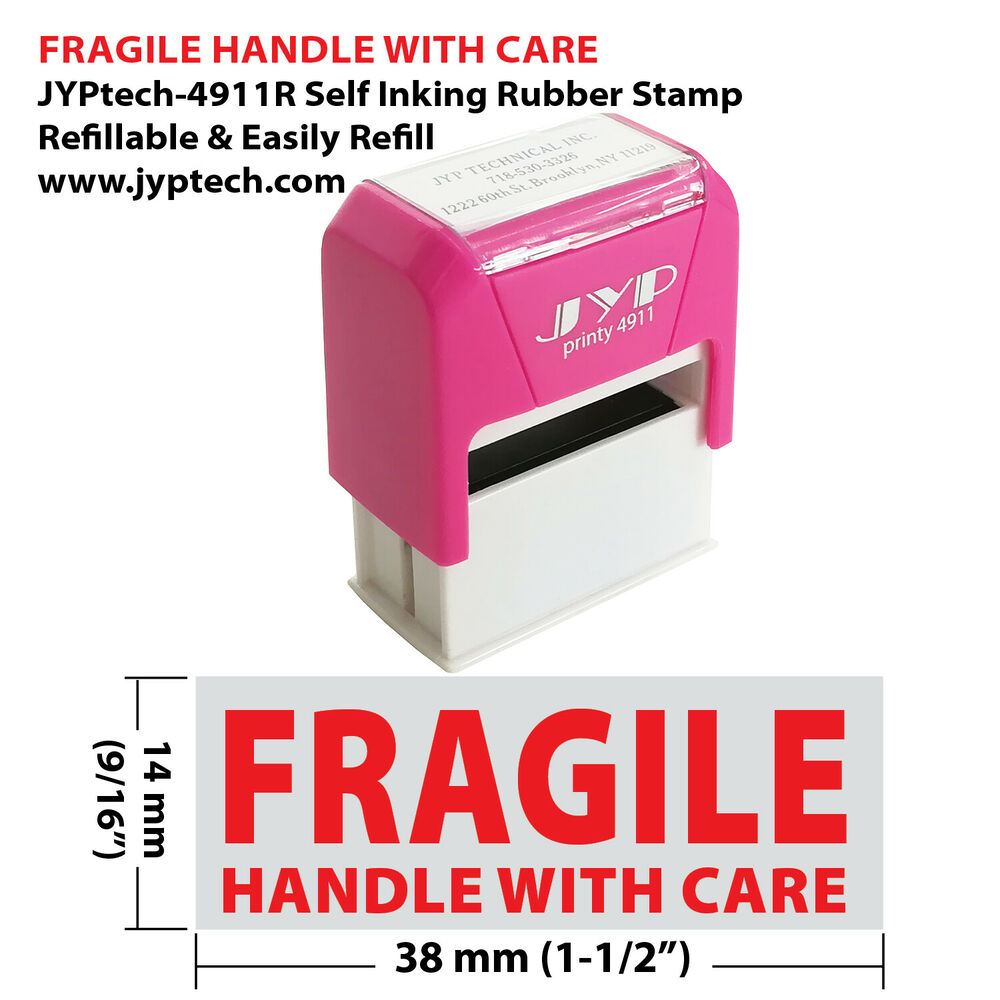 Fragile Handle With Care - JYP PA1040 Pre-Inked Rubber ...