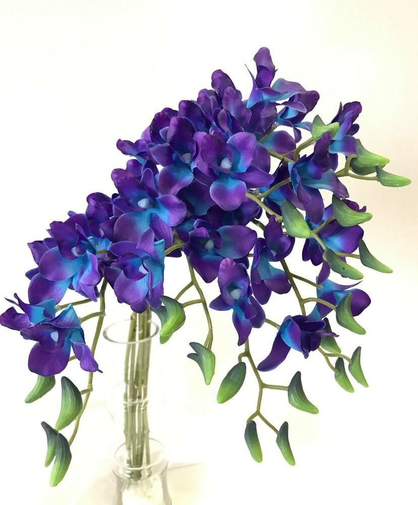 Artificial Blue Orchids And Purple