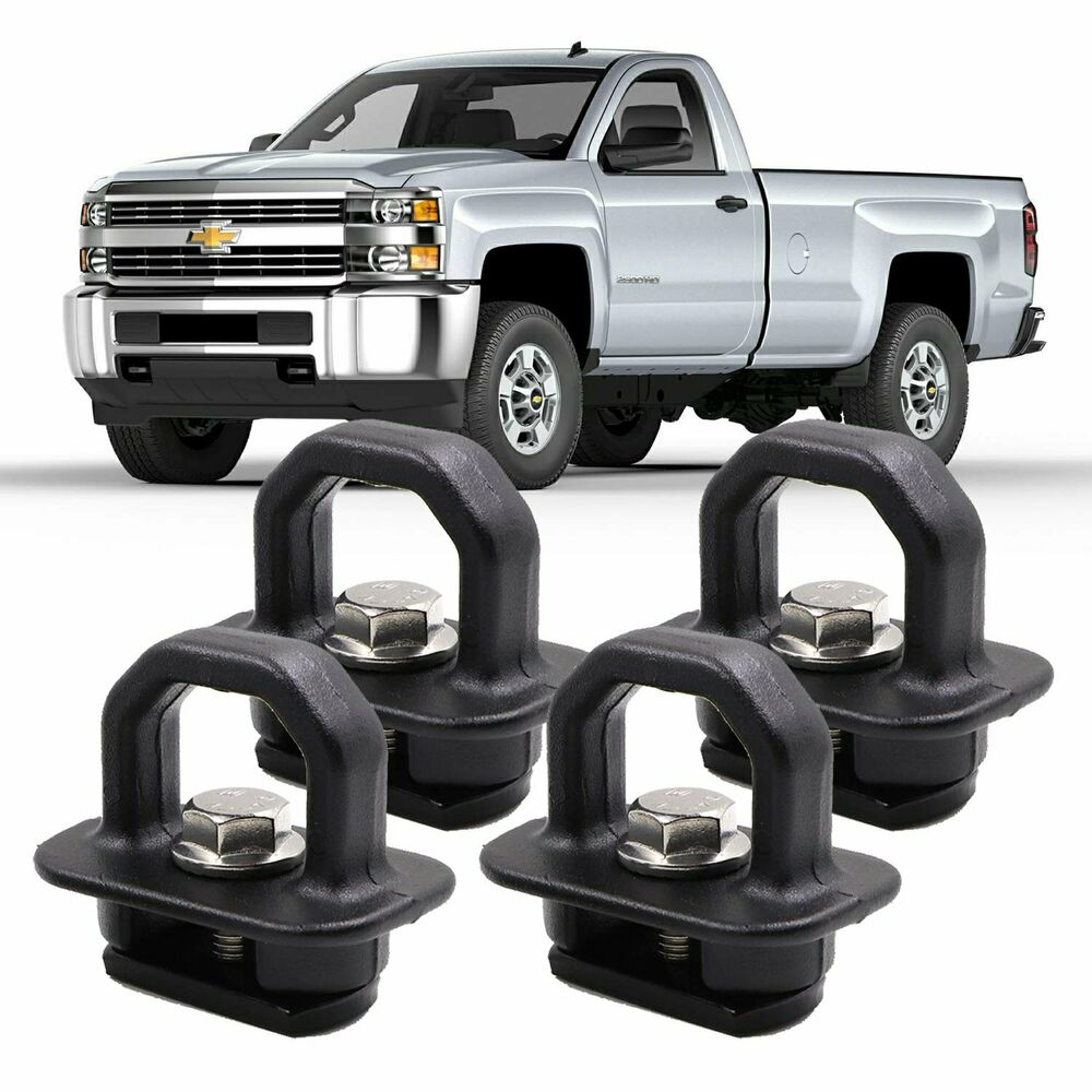 4X Car accessories Tie Down Anchor Truck Bed Side Wall ...