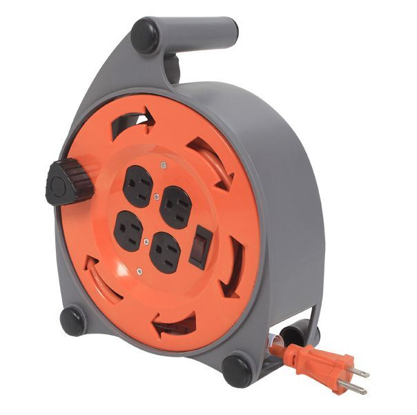 Self Retracting Extension Cord Multiple Electric Sockets