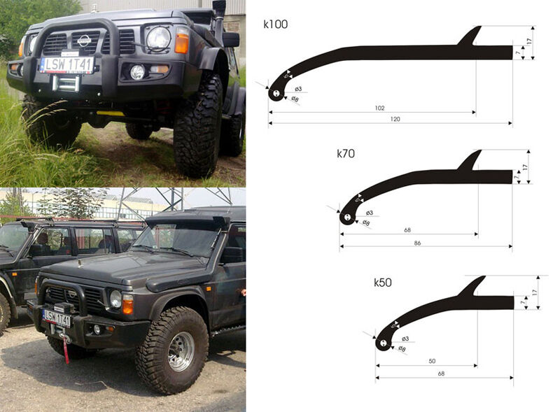 4x4 Offroad Universal Wheel Trim Arch Extensions Fender