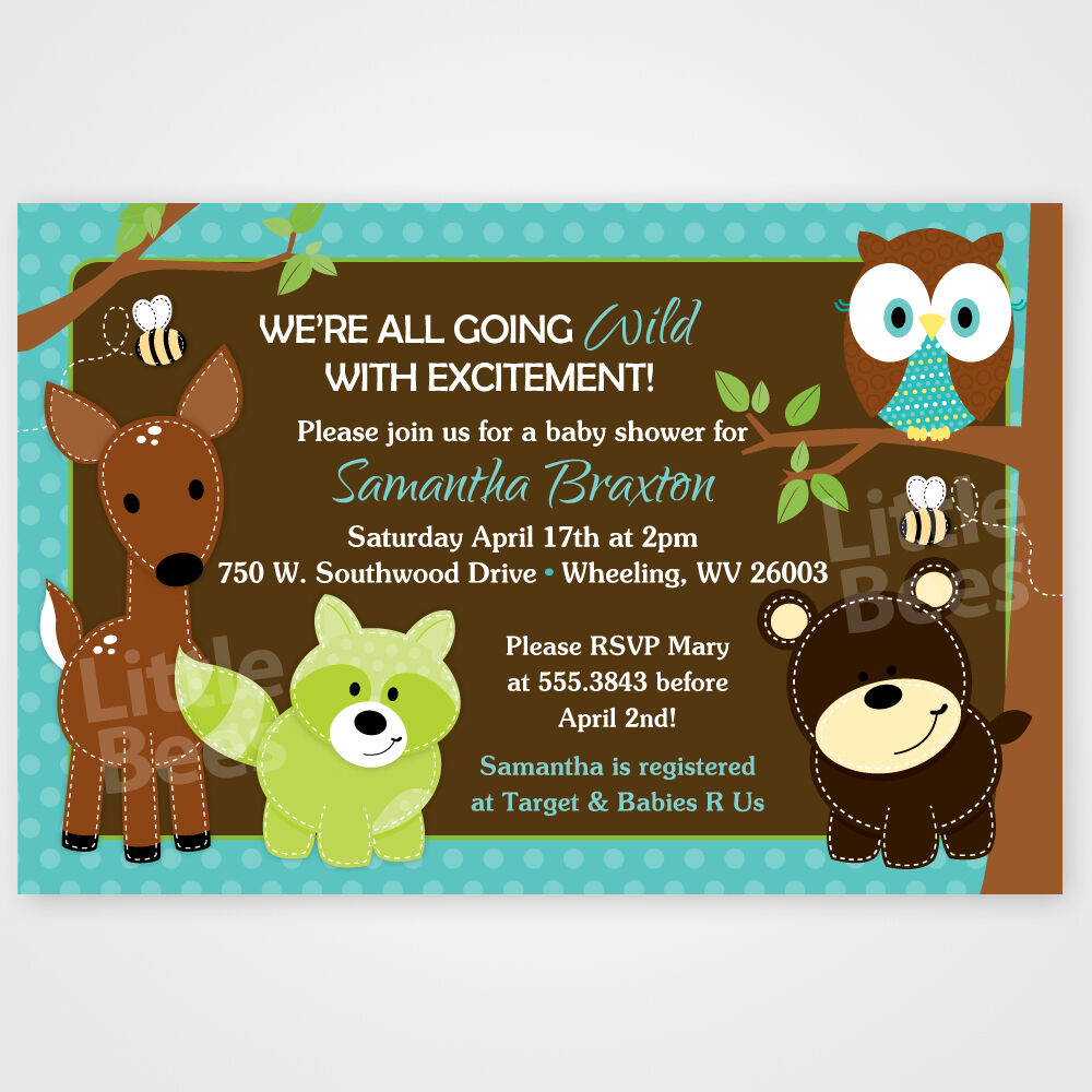 Woodland Forest Animal Friends -- Printable Baby Shower or ...