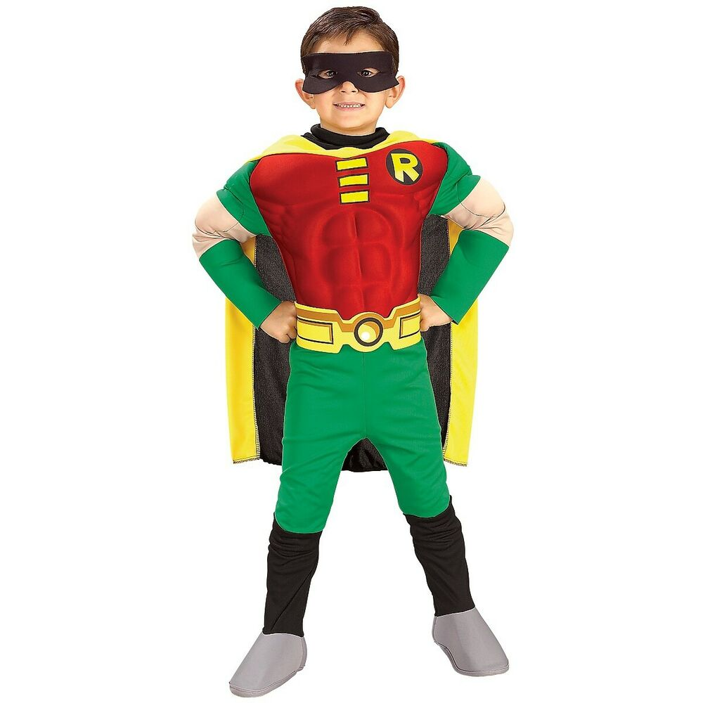 Robin Costume Kids & Toddler Batman Superhero Halloween Fancy Dress Up | eBay