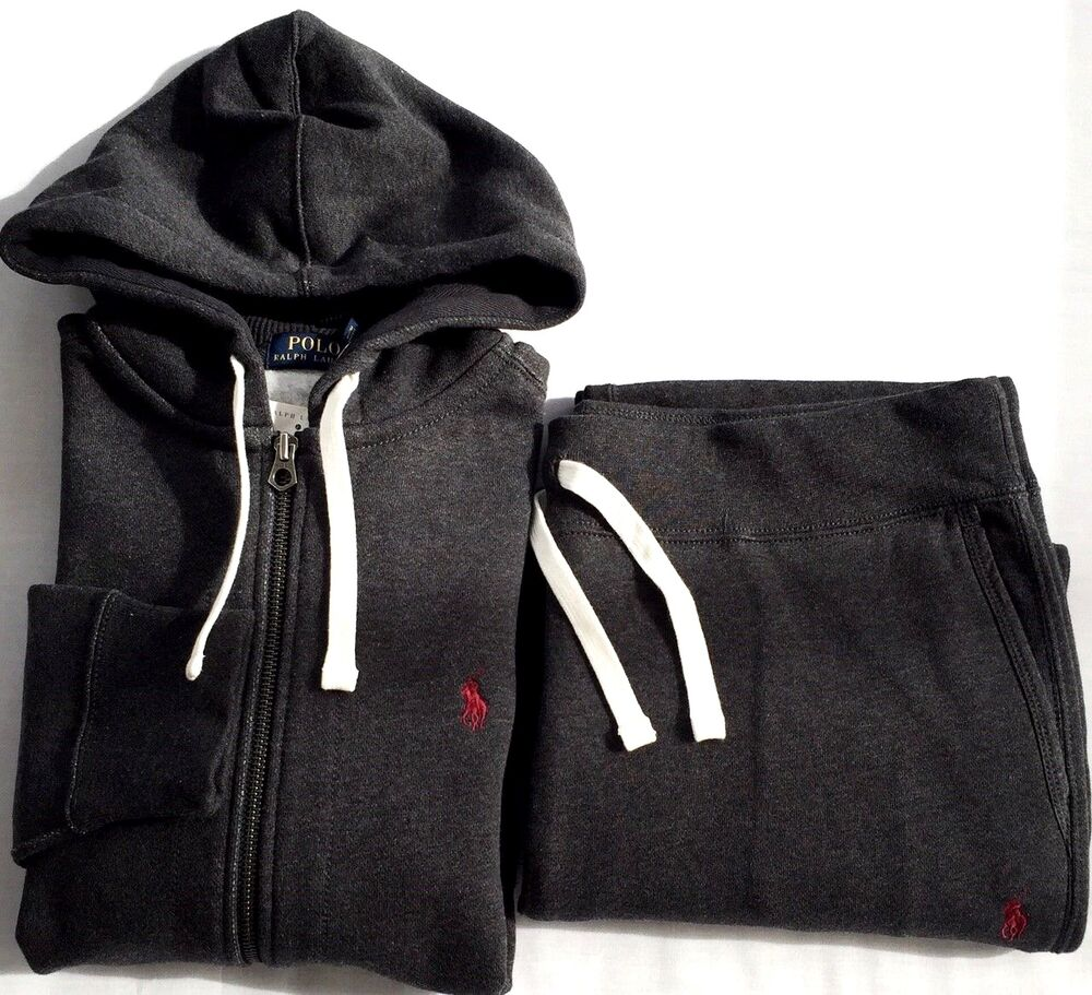 Full Polo Mens Sweat Suit