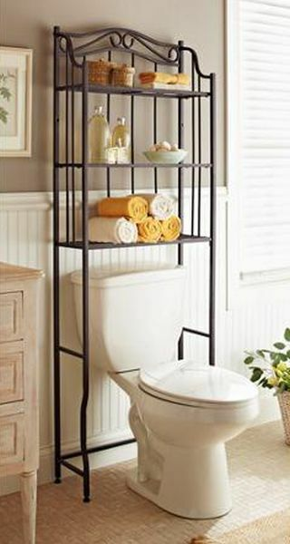 Bathroom Cabinet Over the Toilet Storage Rack Space Saver ...