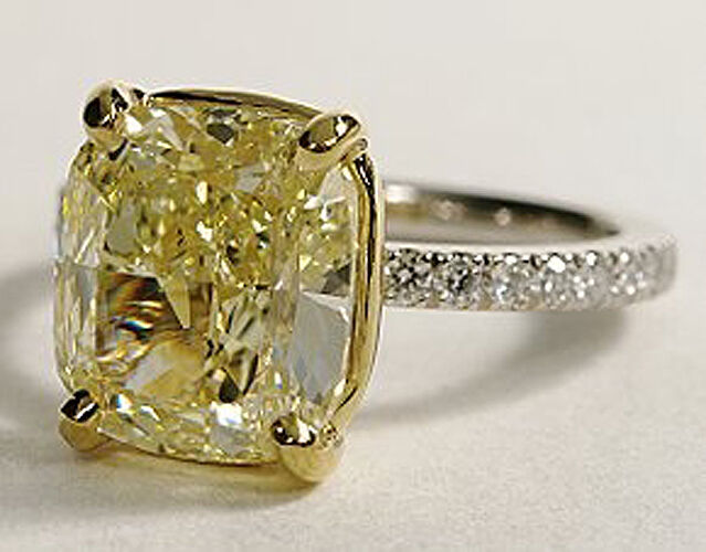 Canary Diamond Solitaire Wedding Ring