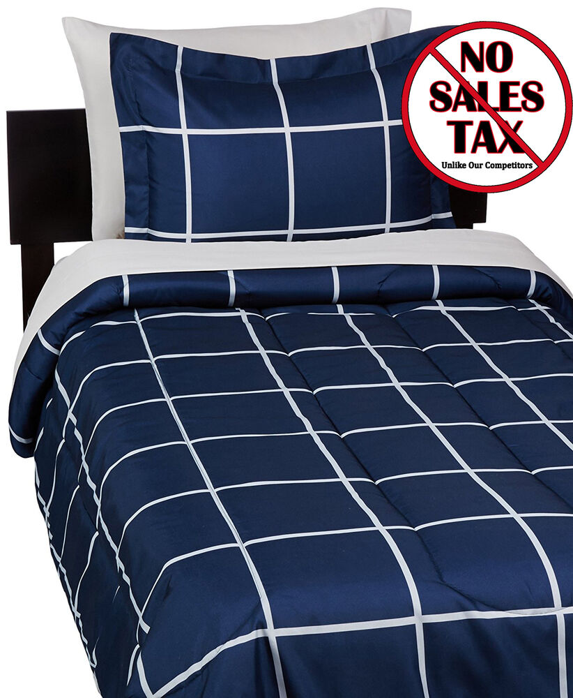 Twin Xl Bedding Sets For Dorms College Dorm Room Navy Blue