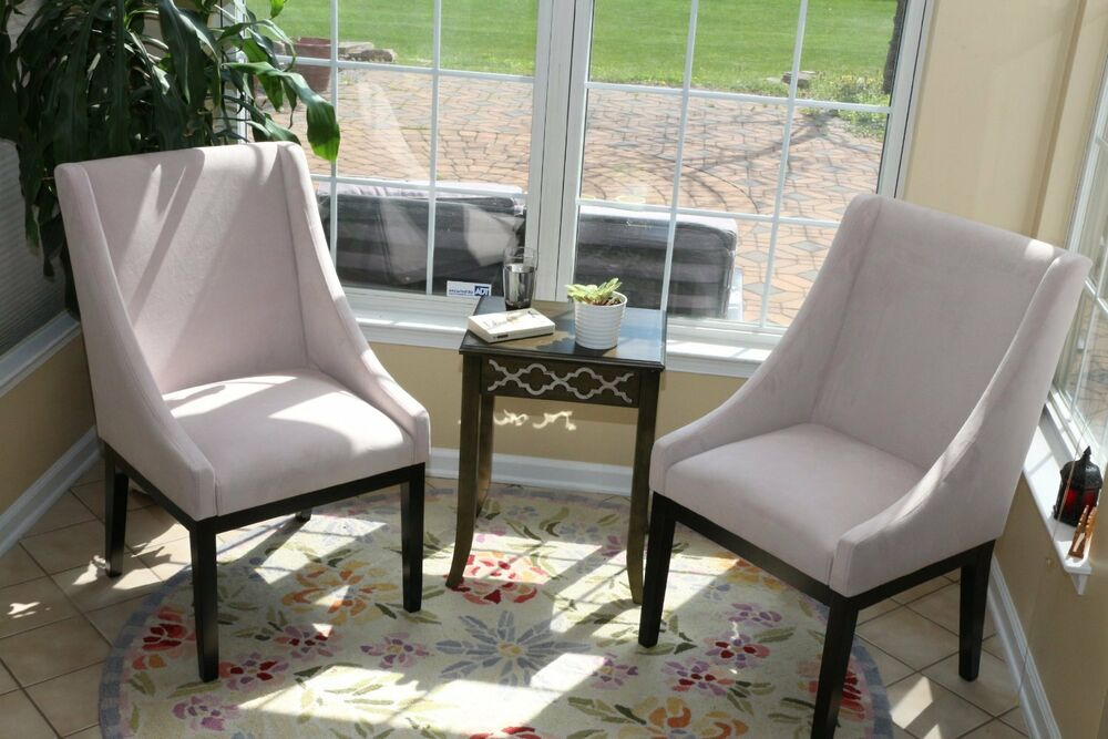 Set 2 Accent Chairs Arms