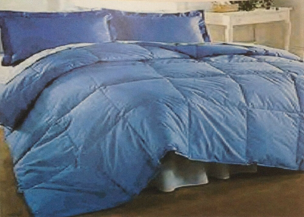 Reversible Goose Down Comforter 100 Cotton Down Proof