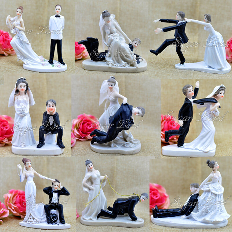 Texting Bride And Groom Wedding Cake Toppers