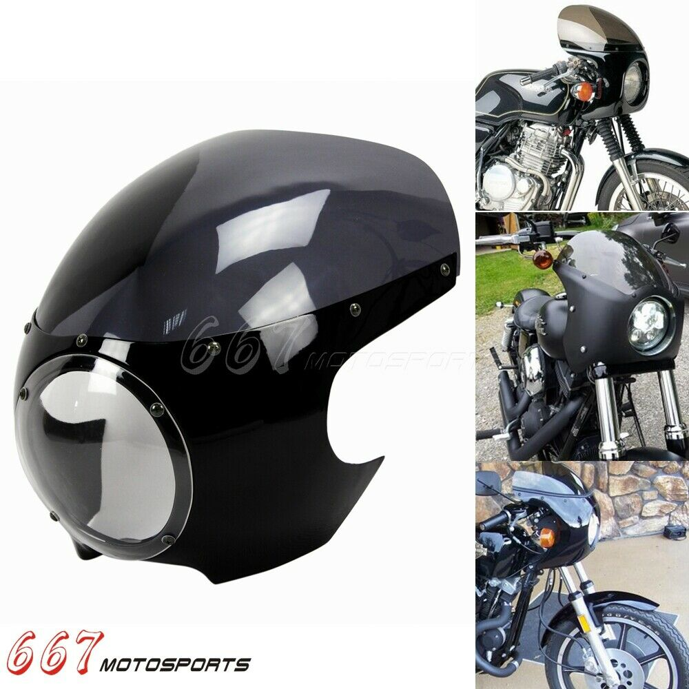 Retro Motorcycle Windshield