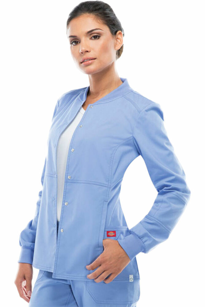 Long Sleeve Scrub Tops Pockets