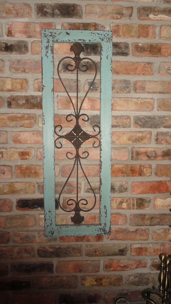 Wood And Wrought Iron Wall Decor