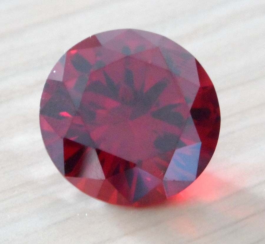 Wholesale Aaaaa Dazzling Red Ruby Round Faceted Cut Vvs