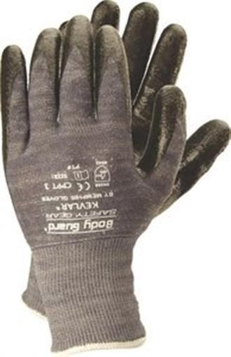 Body Guard 174 Gray Nitrile Coated Stainless Steel Knit Glove
