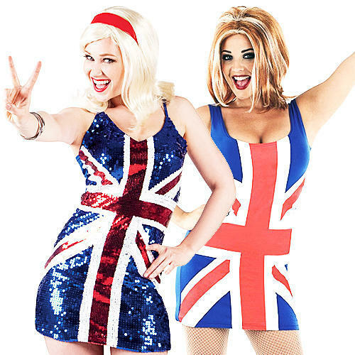 Flag Sequin British Dress