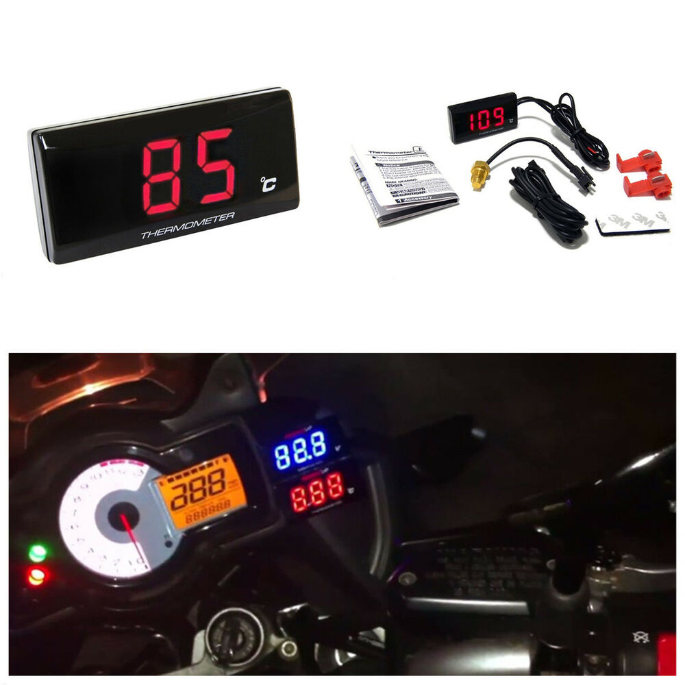 Motorcycle Digital Thermometer