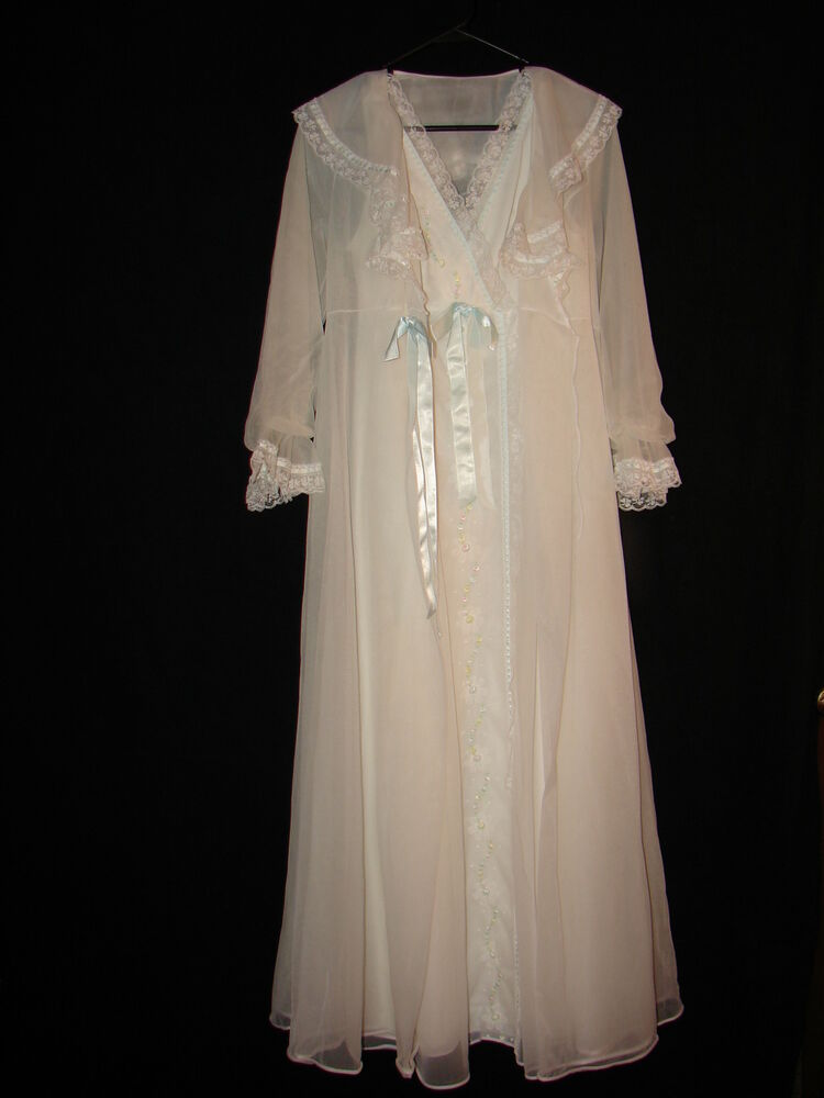 Shadowline Wedding White Bride Lace Sheer Night Gown And