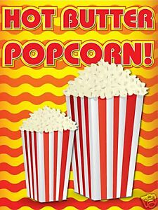 Carnival Food Sign Pop Corn Sign Decal Graphic   eBay